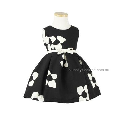 Cotton blend floral formal dress QWDS819