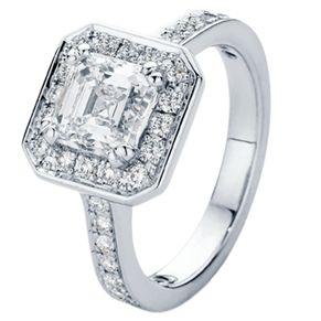Beautiful Asscher Cut diamond engagement ring  www.larsenjewellery.com.au