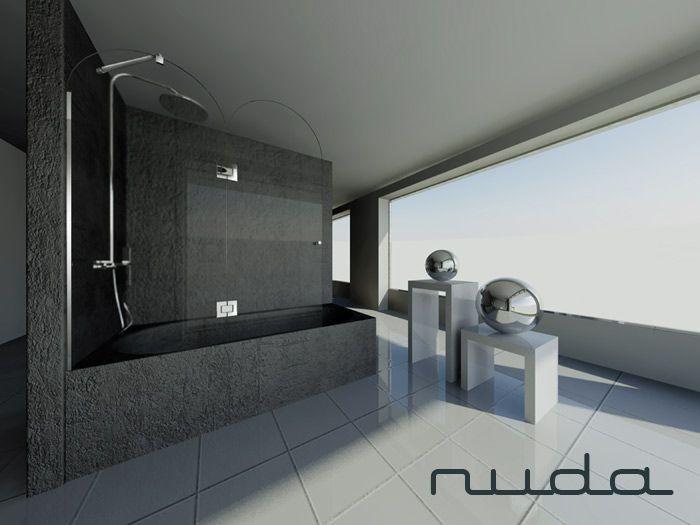 bathtub shower glass tempered 8 mm
