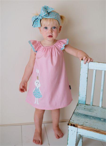 "Easter dress Sizes 1, 2 & 3 ""Princess Bunny"" Pink Blue Rabbit Pretty"