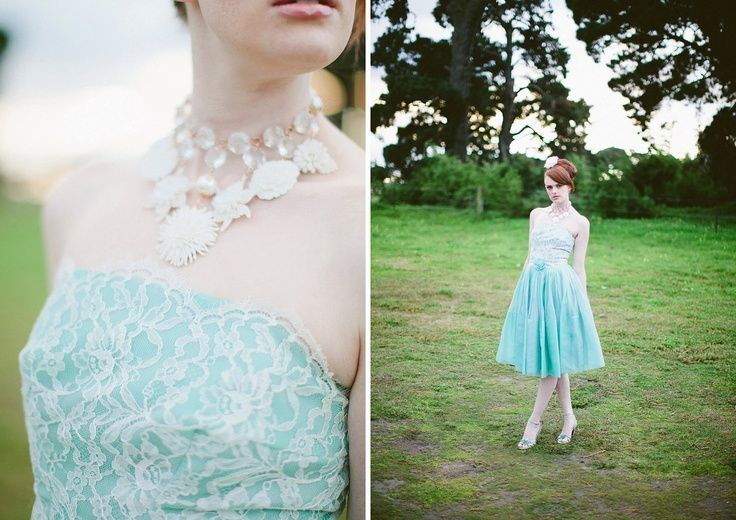 upcycled+prom+dresses   Vintage celluloid necklace, vintage 1950s prom dress by urbanrose.com ...