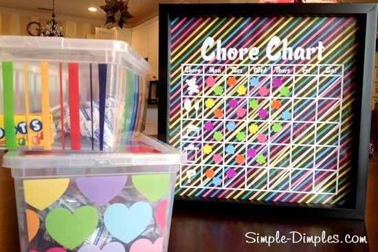 Magnetic Chore Chart Tutorial & Freebie