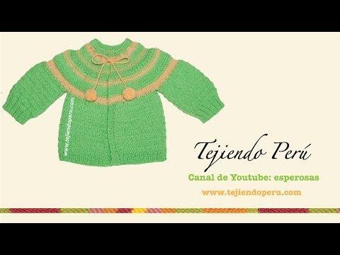 Ropón o chaquetita facil con canesú - Tejiendo Perú
