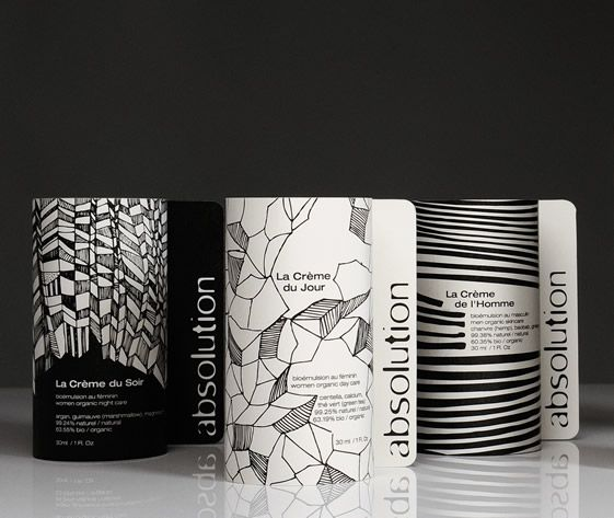 Beautiful monochrome illustration that draws you in. Absolution packaging