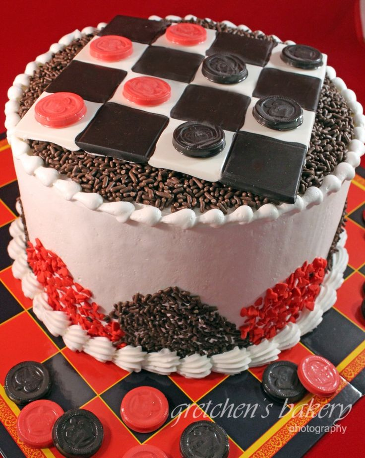 Playable Checkerboard Cake