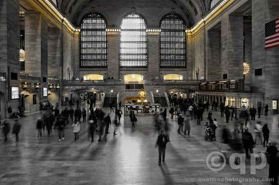 Grand Central Station in black and white by QuattroPhotography. Prints available