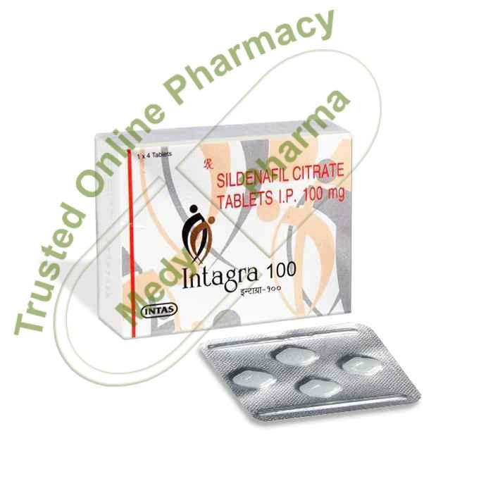 Buy Intagra 100 mg Intagra 100mg Tablet is used in the treatment of erectile dysfunction and pulmonary hypertension.   Side effects of Intagra Tablet Headache, Diarrhoea, Dyspepsia, Flushing (sense of warmth in the face, ears, neck and trunk), Pain in extremity.   How to use Intagra Tablet Take this medicine in the dose and duration as advised by your doctor. Swallow it as a whole.   #intagra100mg #intagra100mgpriceinindia #intagra100mgreview #intagra100mgsideeffects