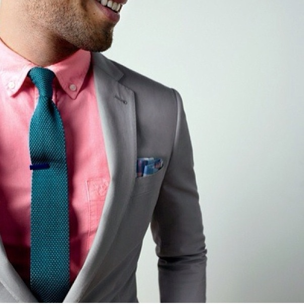 Pink Dress Shirt And Teal Tie Men 39 S Fashion Pinterest