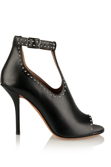 Givenchy - Studded Ankle Boots In Black Leather - IT36.5