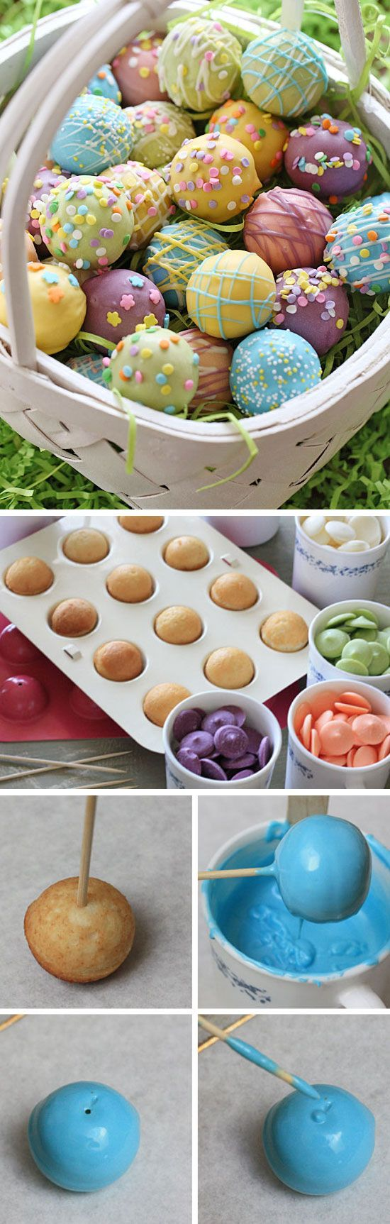 Skinny Easter Egg Cake Balls | Click Pic for 30 Easy Easter Desserts for Kids to Make | Easy Easter Treats for School Parties