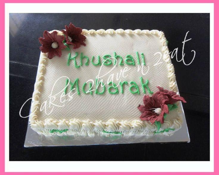 BEAUTIFUL CAKE TO CELEBRATE  KHUSHALI