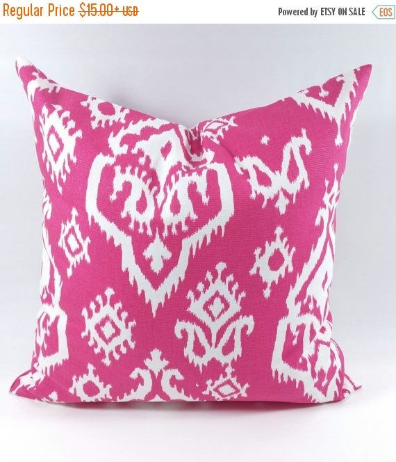SALE Pillow cover. Pink  and white pillow cover. pink throw