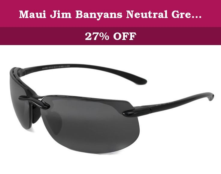 Maui Jim Banyans Neutral Grey 412-02. Maui Jim Banyans sunglassesPart of the Maui Jim Sport collection. Maui Evolution lenses are held in this tough rimless sunglass which offers the best in comfort and eye protection.