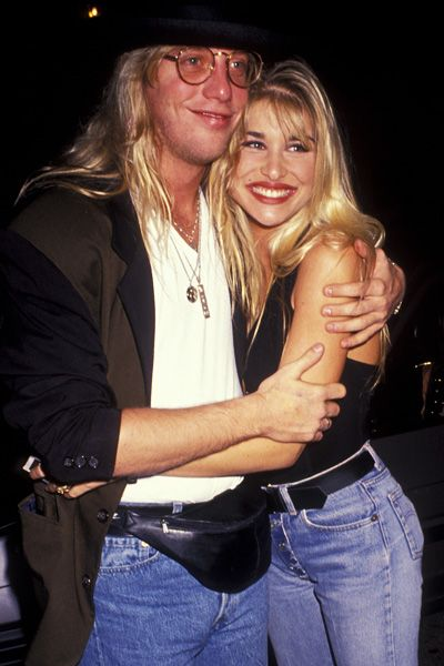 Jani Lane and Bobbie Brown at the Roxbury in 1991