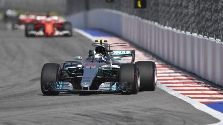 Valtteri Bottas geht in seinem Silberpfeil in die Kurve. Der Finne gewinnt in Russland sein erstes Formel-1-Rennen überhaupt
