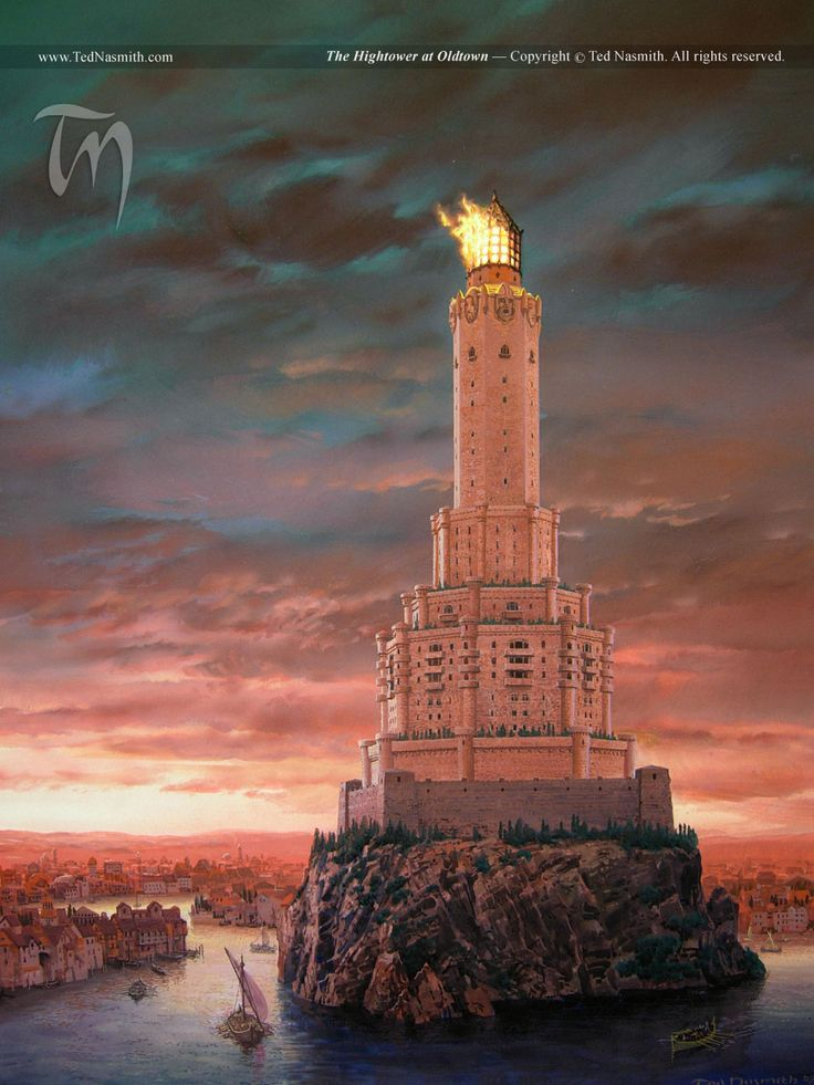 The Hightower at Oldtown. A Song of Ice and Fire. #GoT #asoiaf