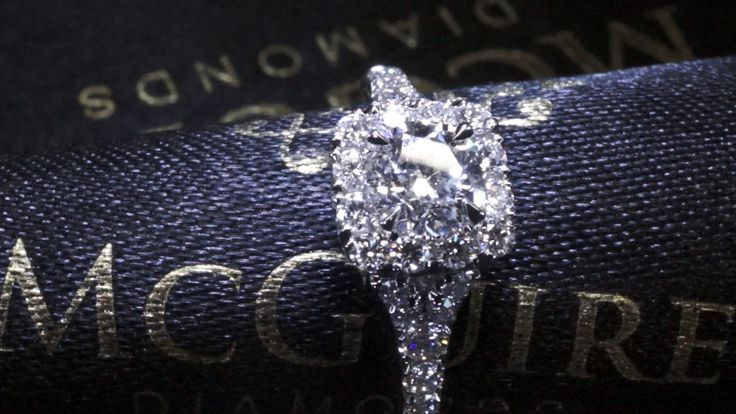 Castell halo in platinum by McGuire Diamonds