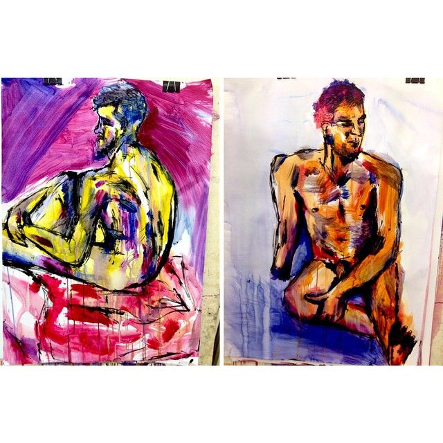 Life drawing.  #lifedrawing #quicksketch #messy #drawing #painting #acrylic #ink #artschool #art #artist #foundationclass #figure #body #artoftheday #color #watercolor #man #observationaldrawing #abstract #abstractart #fastdrawing #figurestudy #unilyf #nudemodel #paint #draw #artstudent #illustration #brushstrokes #scribbles