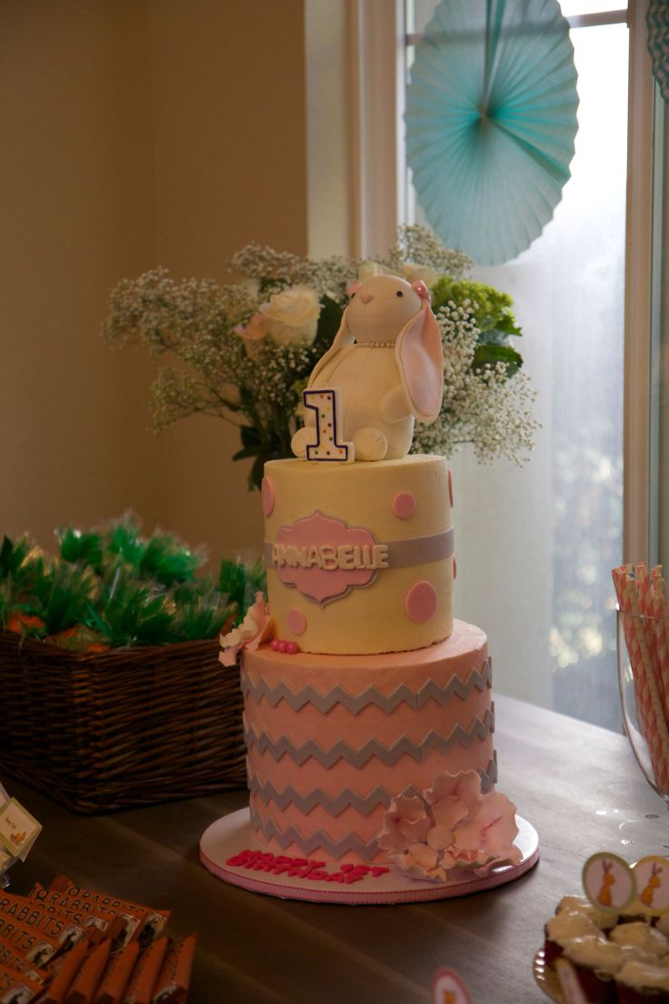 #baby#firstbirthday #party #decorations #bunny #chic #popular #beautiful #cake #adorable