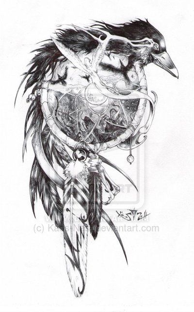 Crow tattoo design this one i got as a tatoo on my arm, He looks great!!!