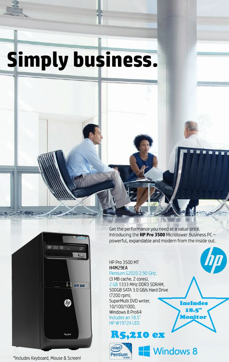 HP Desktop plus monitor promo. laurenp@ilembetech.co.za