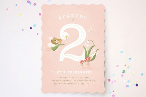 Vintage Woodland Fairy Children's Birthday Party Invitations by Jennifer Wick at minted.com