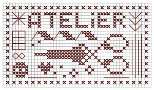 P009 workshop  free chart cross stitch