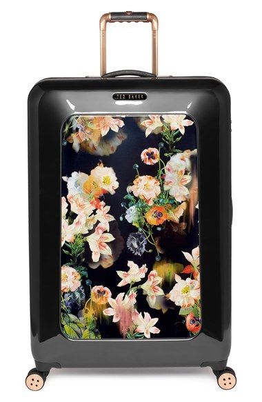Ted Baker London 'Large Opulent Blooms' Hard Shell Suitcase (32 Inch) available at #Nordstrom