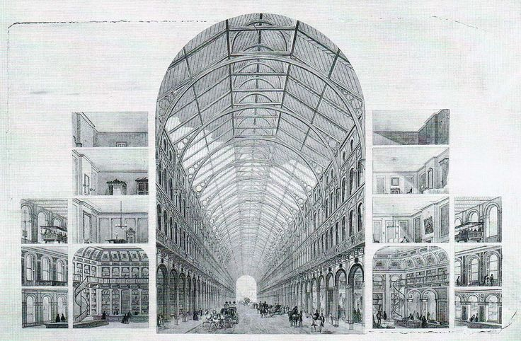 Joseph Paxton. Crystal Palace. London. 1851 #architecture