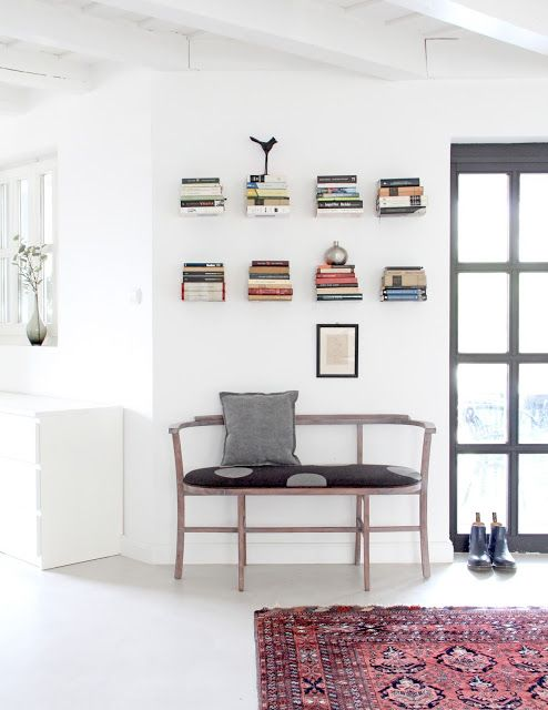 Thonet bench with books...
