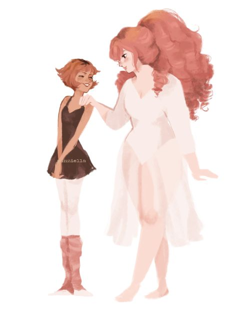 punziella: Human ballerina Pearl and rose