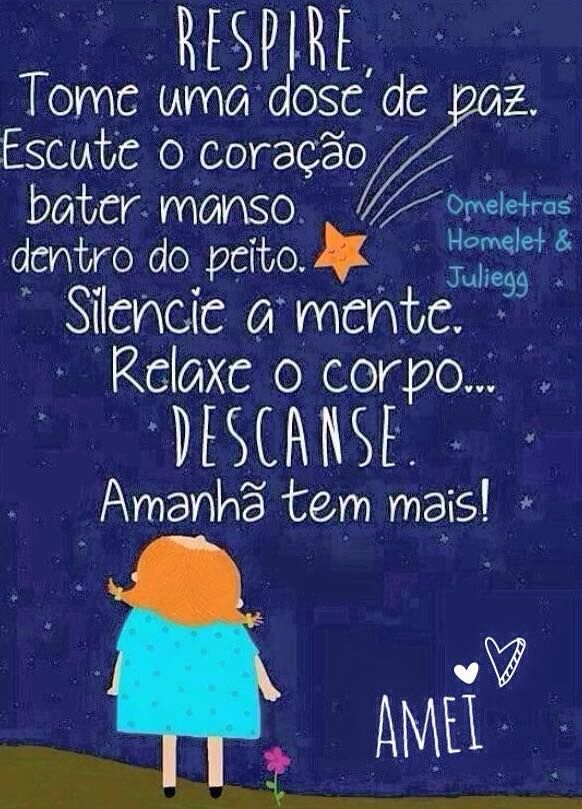 Boa noite Amanhã a Amei te espera das 8:30 ás 17:00. Bons sonhos, até amanhã — em Amei.