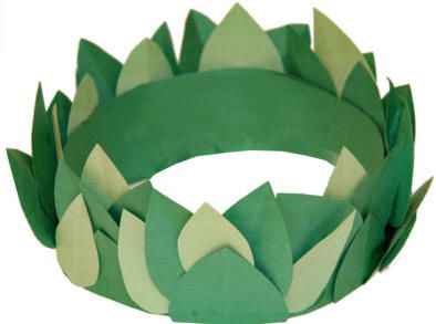 The winter leaf crown and greek crafts on pinterest for Laurel leaf crown template
