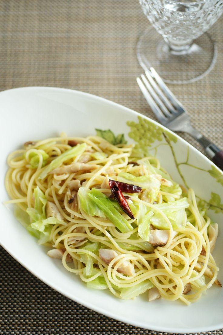 鯵の干物とキャベツのぺペロンチーノスパゲティ by 小泉明代 | レシピサイト「Nadia | ナディア」プロの料理を無料で検索