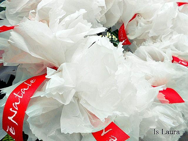 ghirlanda con sacchetti di plastica tutorial