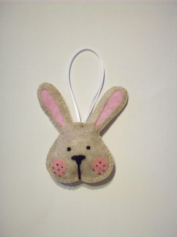 Felt Bunny Rabbit Ornament by AmandasCraftyNiche on Etsy, $4.50