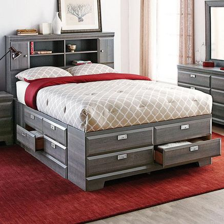 'Cypres' Queen Storage Bed - Sears | Sears Canada ~ I want! I want!