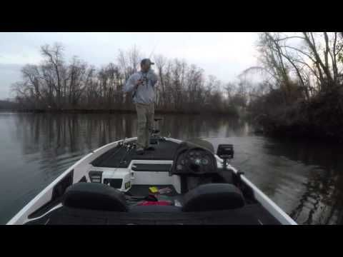 Bass fishing the Delaware RIver in December