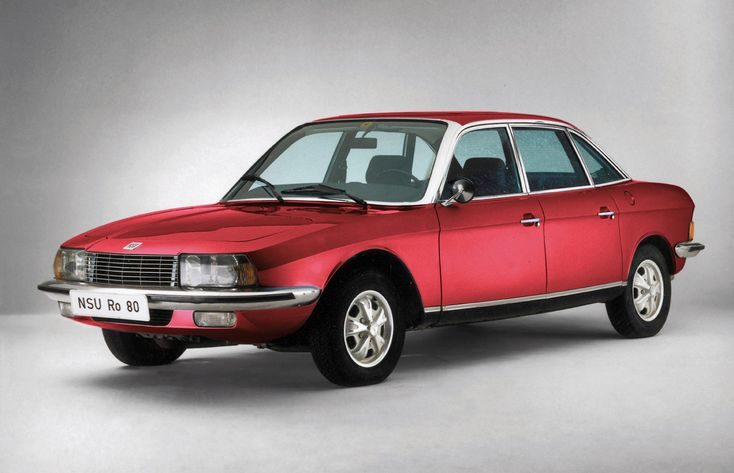 The fabulous late 1960's NSU Ro80, a car that was years ahead of its time, and eventually drove its maker to bankruptcy. Apart from the unreliability of its rotary engine, it was a magnificent car in its time.