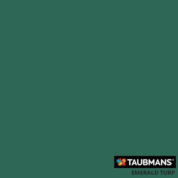 #Taubmanscolour #emeraldturp