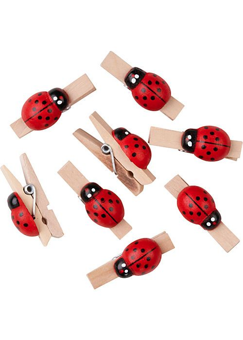 Find cute little ladybug charms (or paint rock ones) and put them on clothespins. Then use them to hang student work in your ladybug classroom theme room!