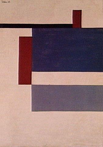 Estrutura Plástica 1949   Waldemar Cordeiro têmpera sobre tela, c.s.e. 73.00 x 54.00 cm Coleção Família Cordeiro (São Paulo, SP)