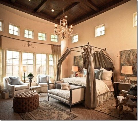 70 best images about romantic bedrooms on pinterest for Romantic master bedroom designs