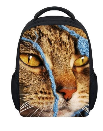 268e90b12467 12 inch cute pet cat small backpacks for children shoulder bag kindergarten  baby school bag printing