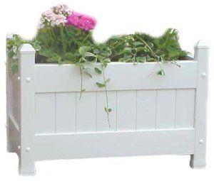 Duratrel Model 11124 White Large Planter Box Fully Assembled 2 Ceramic Bonsai Pots – Japanese Houtoku Brand – Blue 6/7