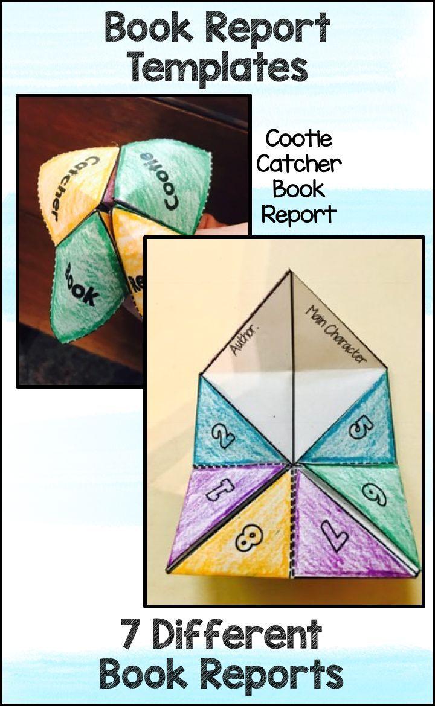 Book Report Templates - Cubes Cootie Catcher Graphic Novel ...