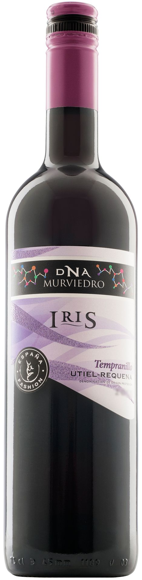 DNA Fashion Iris Tempranillo -  Nota de Cata   Color: De intensidad media, con un color rojo cereza brillante.   Aroma: Afrutado, de intensidad alta, con recuerdos a fruta roja, fresas, cerezas, etc.   Sabor. En boca es un vino lleno, ligeramente dulce, con mucho peso de fruta y taninos muy equilibrados y redondos.     Sugerencias de Servicio   DNA Fashion Iris es un vino tinto ideal como aperitivo, además de un buen acompañante de carnes rojas, pastas y arroces. Su temperatura ideal de…