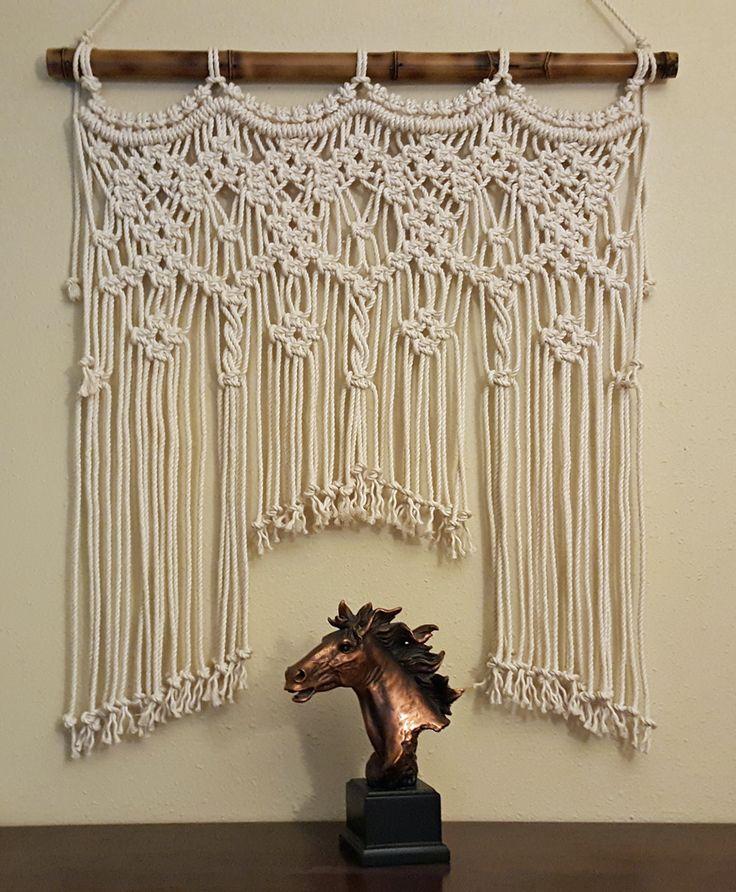 """Macrame Wall Hanging Window/Console/Headboard/Wedding """"Spirit"""" by MonroeArtist on Etsy https://www.etsy.com/listing/473134599/macrame-wall-hanging"""
