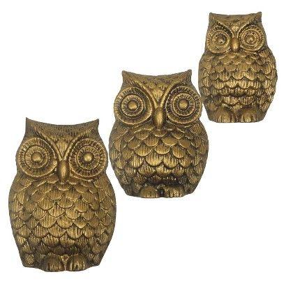 Golden Owl Ornamental Wall Decor from Target