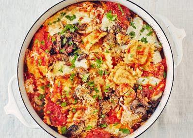 Recipe: Cheesy Ravioli Pasta Bake | Kitchn
